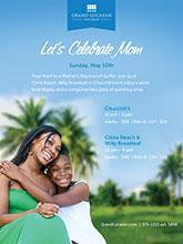 Grand Lucayan's Mother's Day Brunch specials