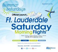 SkyBahamas to launch Fort Lauderdale Summer Saturdays!