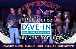 Uppercut Band Bahamas July FREE Concert @ Dive IN Marina Bar
