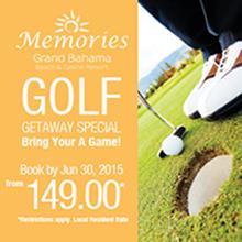 Memories Resort Grand Bahama  June Golf Package