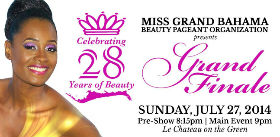2014 Miss Grand Bahama Pageant Finale set for July 27th